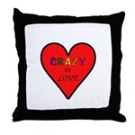 Crazy in Love Throw Pillow