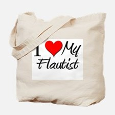 I Heart My Flautist Tote Bag