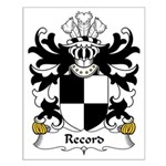 Record Family Crest Small Poster