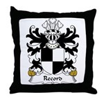 Record Family Crest Throw Pillow