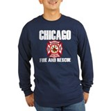 Chicago fire Long Sleeve T Shirts