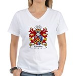 Rawlins Family Crest Women's V-Neck T-Shirt