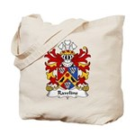 Rawlins Family Crest Tote Bag