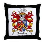 Rawlins Family Crest Throw Pillow