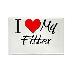 I Heart My Fitter Rectangle Magnet