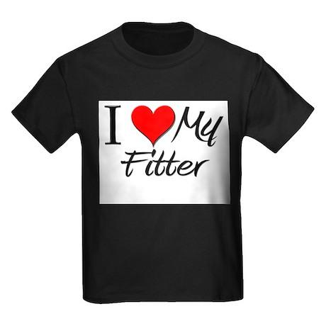 I Heart My Fitter Kids Dark T-Shirt