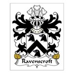 Ravenscroft Family Crest Small Poster
