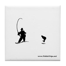 Fishin' Guy Tile Coaster