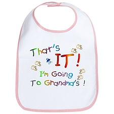 I'm Going To Grandma's Bib
