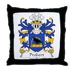 Probert Family Crest Throw Pillow