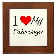 I Heart My Fishmonger Framed Tile
