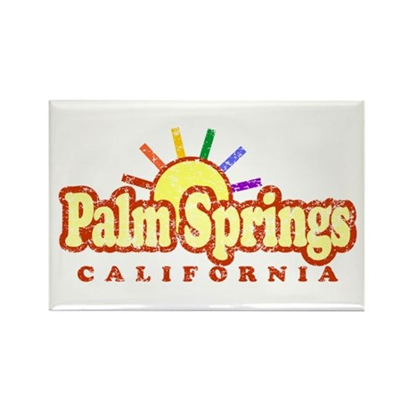 Sunny Gay Palm Springs, California Rectangle Magne