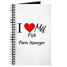 I Heart My Fish Farm Manager Journal