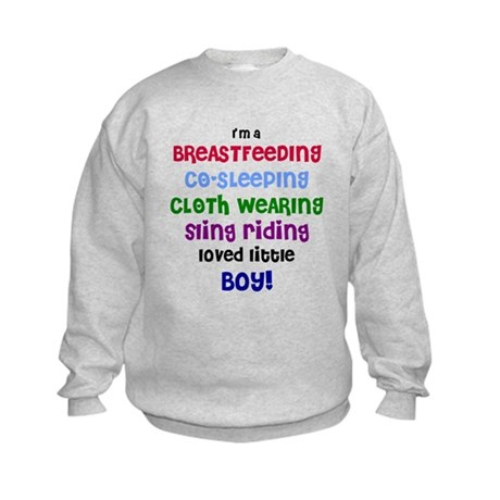 Loved little boy Kids Sweatshirt
