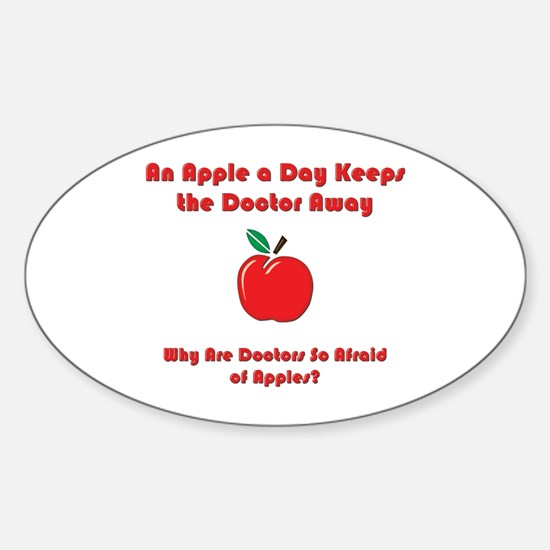 Fear of Apples Oval Decal