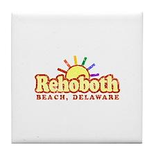 Sunny Gay Rehoboth Beach, Delaware Tile Coaster