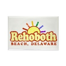 Sunny Gay Rehoboth Beach, Delaware Rectangle Magne