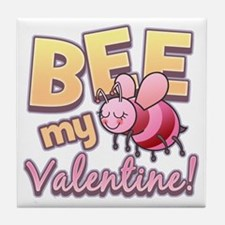 Bee My Valentine Tile Coaster