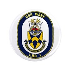 "LHD 1 USS Wasp 3.5"" Button"