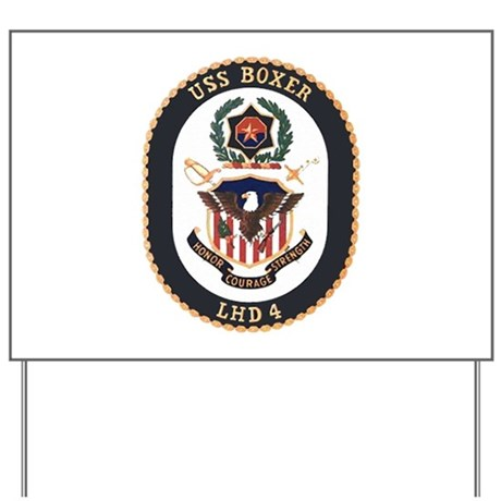 USS Boxer LHD 4 Yard Sign