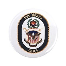 "USS Boxer LHD 4 3.5"" Button"