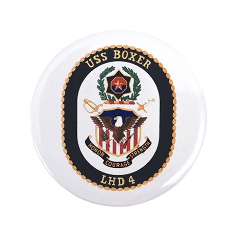 "USS Boxer LHD 4 3.5"" Button"