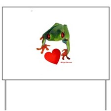 I Love Tree Frogs Yard Sign