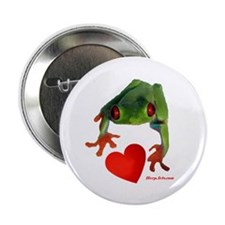 "I Love Tree Frogs 2.25"" Button"