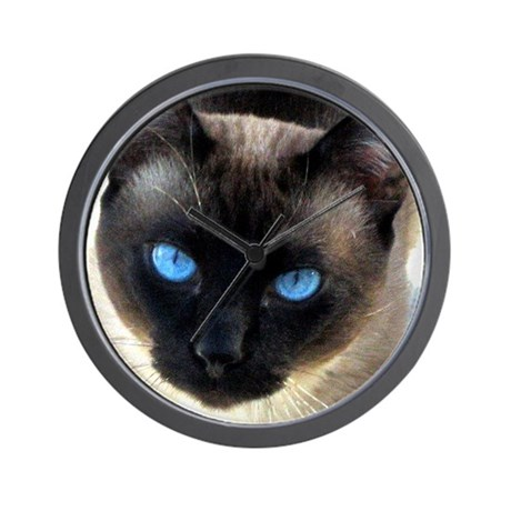 Siamese cat - Wall Clock