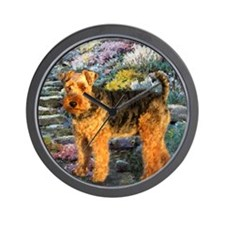 Welsh Terrier Lovers Wall Clock
