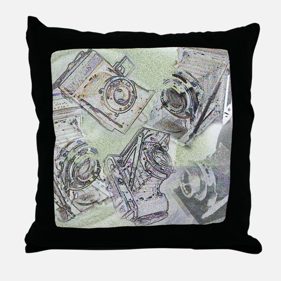 Throw Pillow - Folding cameras