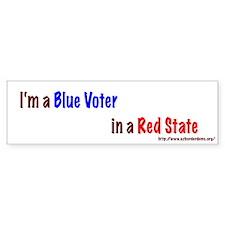 Blue Voter in a Red State Bumper Bumper Sticker