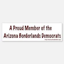 Arizona Borderlands Democrats Bumper Bumper Bumper Sticker