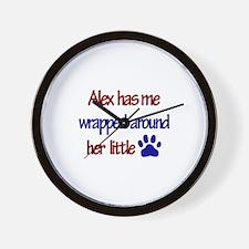 Alex - Has Me Wrapped Around Wall Clock