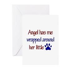 Angel - Has Me Wrapped Around Greeting Cards (Pk o