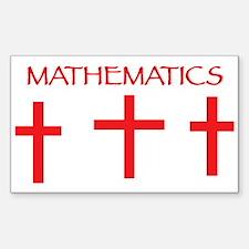 Mathematics Red Decal