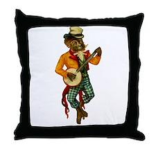 Banjo Monkey Throw Pillow