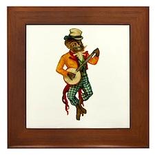 Banjo Monkey Framed Tile