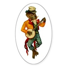 Banjo Monkey Oval Decal