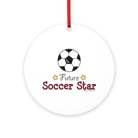 Future Soccer Star Soccer Ornament (Round)