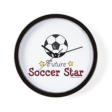 Future Soccer Star Soccer Wall Clock