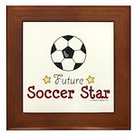 Future Soccer Star Soccer Framed Tile