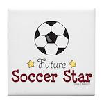 Future Soccer Star Soccer Tile Coaster
