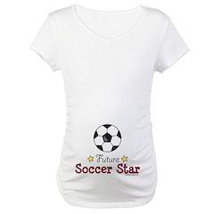 Future Soccer Star Soccer Maternity T-Shirt