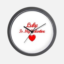 Luke is my Valentine  Wall Clock