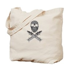 Skull and Crossbones Missile Tote Bag