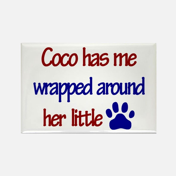 Coco - Has Me Wrapped Around Rectangle Magnet