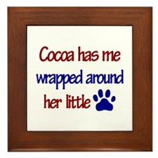 Cocoa - Has Me Wrapped Around Framed Tile