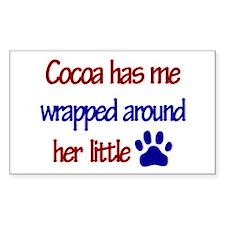 Cocoa - Has Me Wrapped Around Sticker (Rectangular