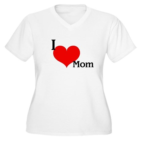 Love Mom Women's Plus Size V-Neck T-Shirt